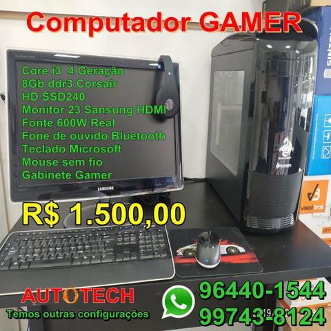Computador gamer core i3 monitor de 23