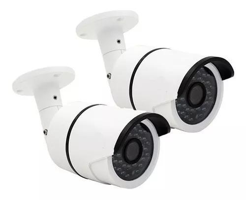 Kit 2 camera de segurança cctv infraver ahd jortan 2 mp