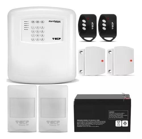 Kit alarme residencial ecp c/ sensores s