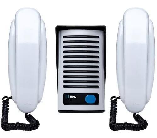 Kit interfone hdl f8 ntl + extensão porteiro eletrônico