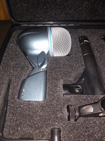 Kit microfones bateria shure 57 52