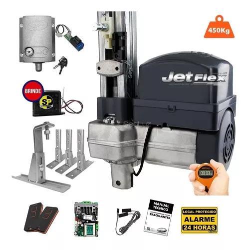 Kit motor de portão eletrônico bv jet flex 1/2 ppa trava