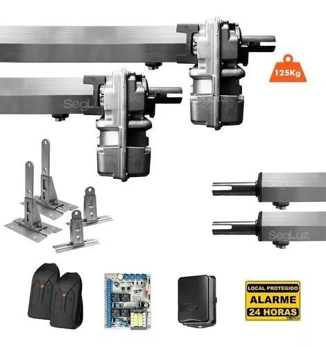 Kit motor portão eletrônico pivotante super ppa + suportes