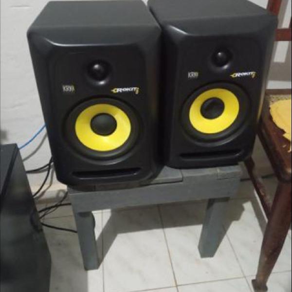 Krk rp6 g3 rokit monitor de áudio