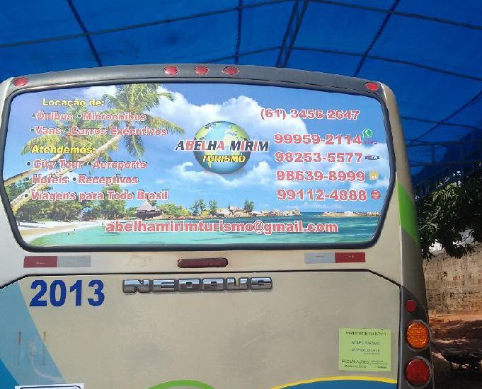 Locação micro ônibus, van, double decker, ônibus