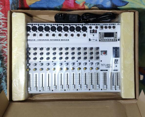 Mesa de som staner mx-1203 usb (12 canais)