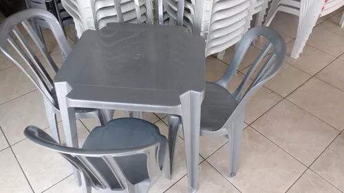 Mesas e cadeiras de plastico goiania cinza inox 182 kls