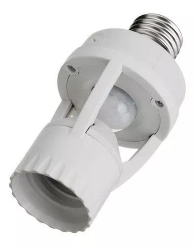 Soquete c/ sensor de movimento e presença lampada bocal