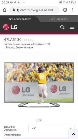 Tv 48 led lg 3d (ac cartão)
