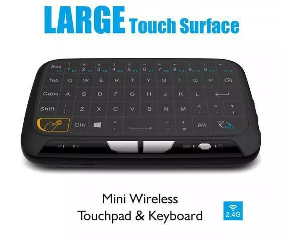 Teclado Wi-fi H18 2.4ghz Com Touchpad