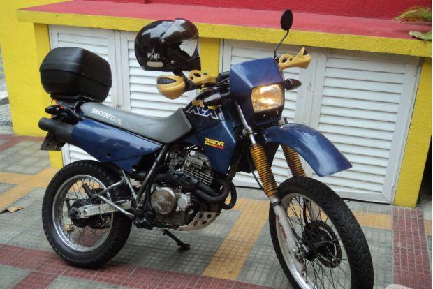 Vendo honda xlx 350 azul anomodelo 1990 toda ok 2019 ok rj