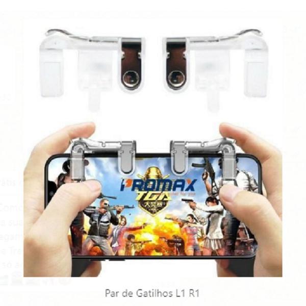 Adaptador gatilho l1 r1 para celular free fire jogar botoes