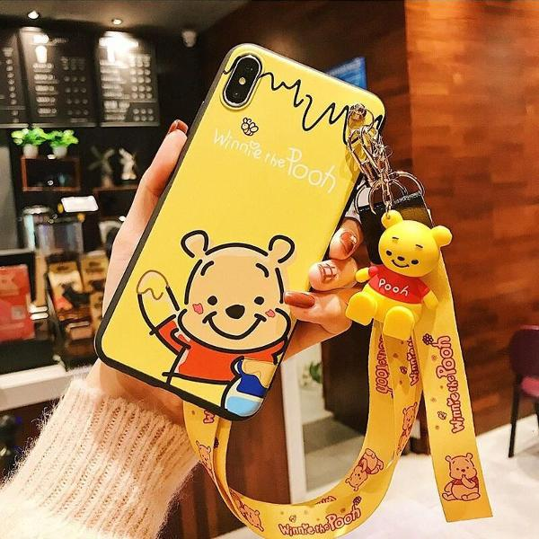 Capa iphone 8 ursinho pooh 3d