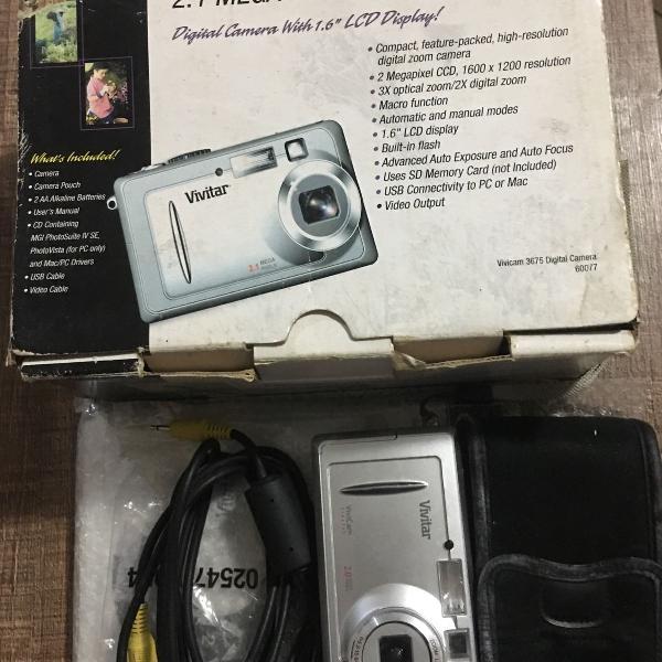Câmera digital vivitar 2.0 / câmera canon 8.0 / sony 7.2