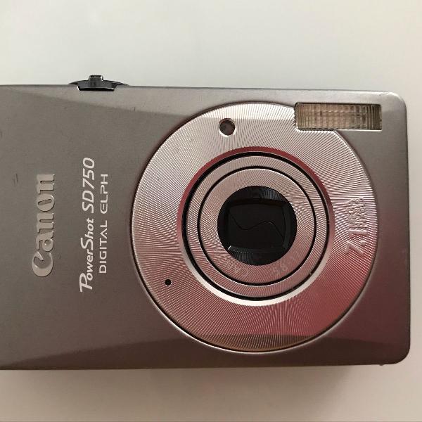 Câmera fotográfica (fotos) canon powershot sd750 digital