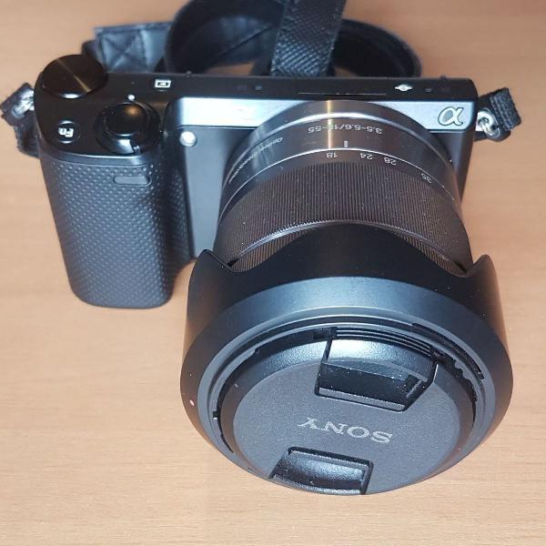 Câmera sony nex 5r full hd 1080p wifi + 18-55mm + capa