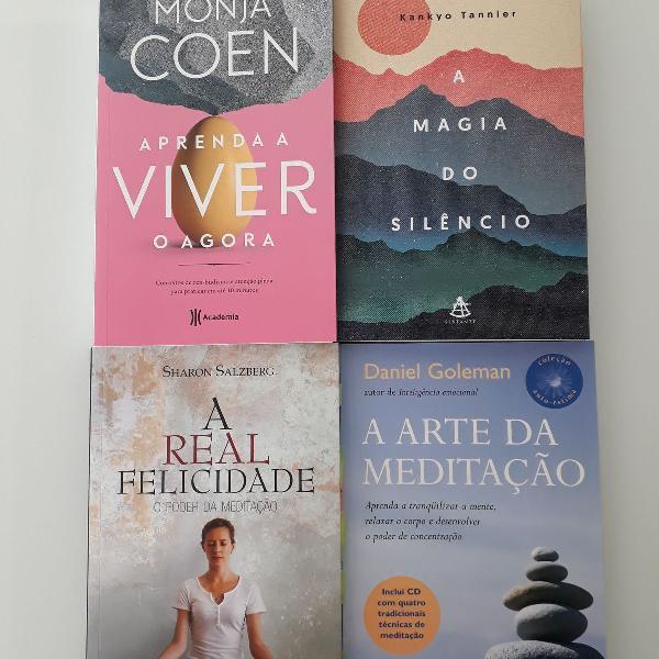 Combo livros meditação