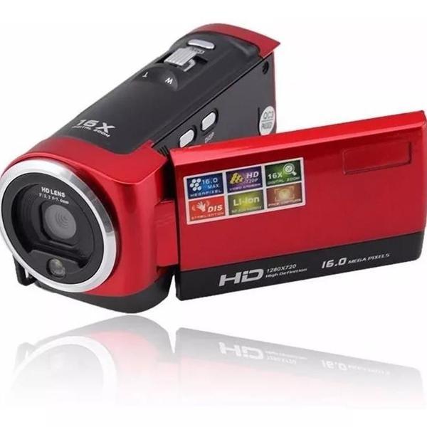 Filmadora hd 720p 16mp camera dv dvr 2.7'' lcd 16x zoom