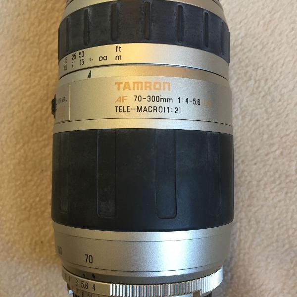 Lente tamron 70-300mm - af - f/4.0-5.6 - tele-macro (1:2)