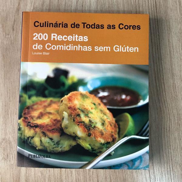 Livro 200 receitas de comidinhas sem gluten