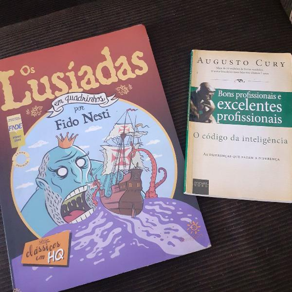 """Livro """"os lusíadas - em quadrinhos"""" e livro """" o código da"""