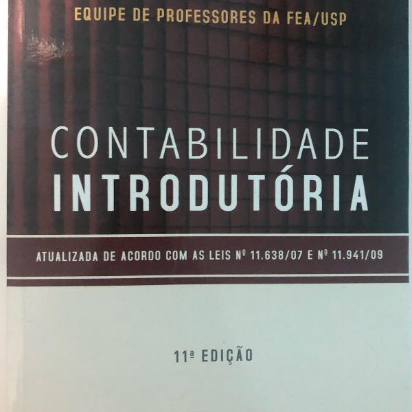 Livro contabilidade introdutória, 11 edição, editora