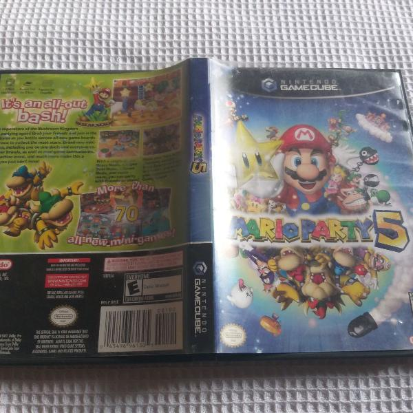 Mario party 5 - jogo nintendo game cube ou wii