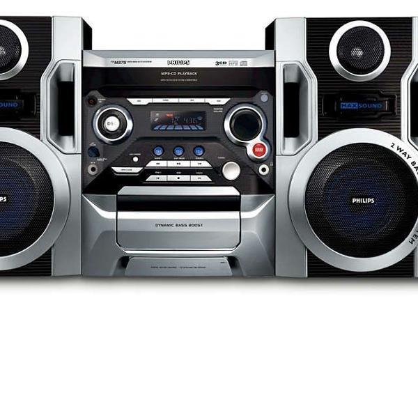 Micro system philips fwm375 bk - com 2 caixas acústicas