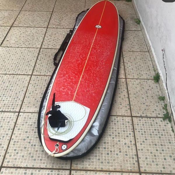 Prancha de surf fun vermelha completa