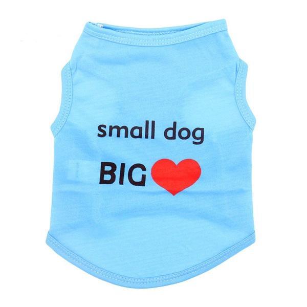 Roupa para cachorros animais de estimação colete azul g