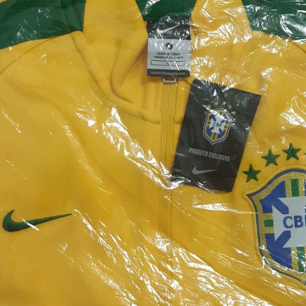 Blusa de agasalho brasil nike