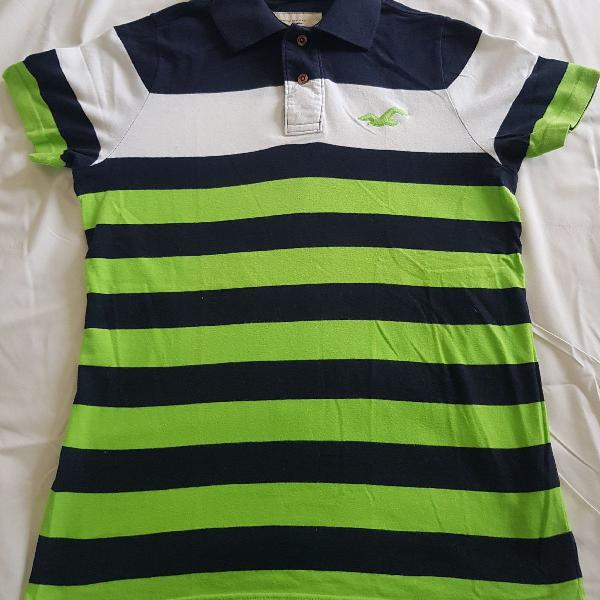 Blusa polo listrada hollister original