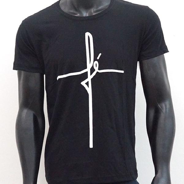 Camisa camiseta fé 100% algodão fio 30 penteado