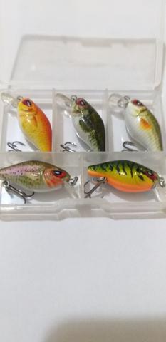 Mini iscas para pesca.