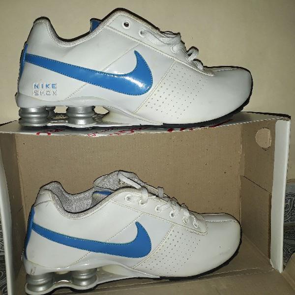 Nike shox azul bebê com branco original