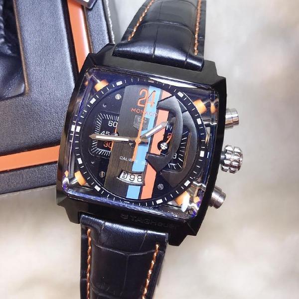 Relógio tag heuer mônaco masculino importado super oferta