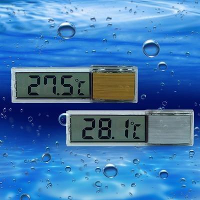 Termômetro transparente para aquário 3d