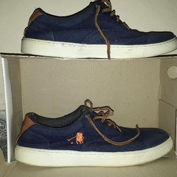 Tênis polo, azul marinho, original tamanho 40