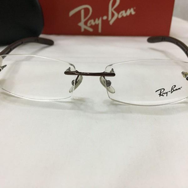 Armação óculos ray ban 8402 balgriff marrom masculino
