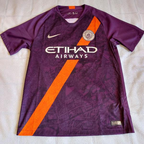 Camisa manchester city away 2018 2019 s/n