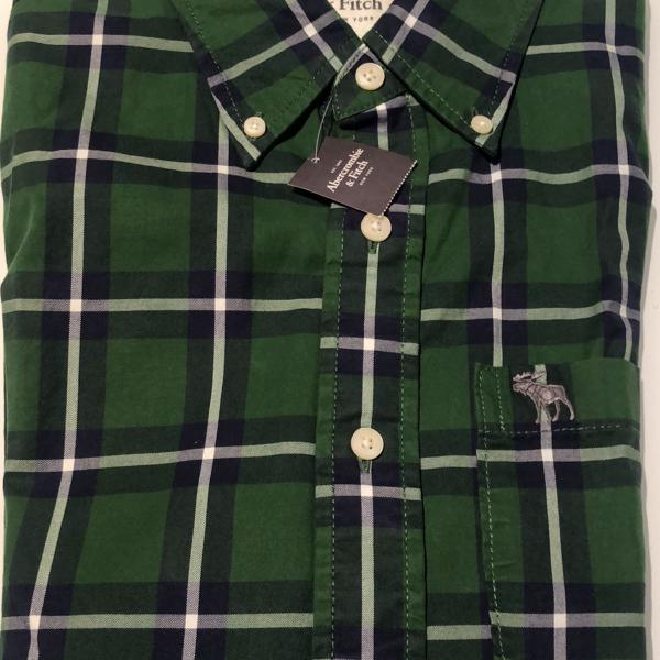 Camisa marca abercrombie & fitch, tam m slim fit, xadrez