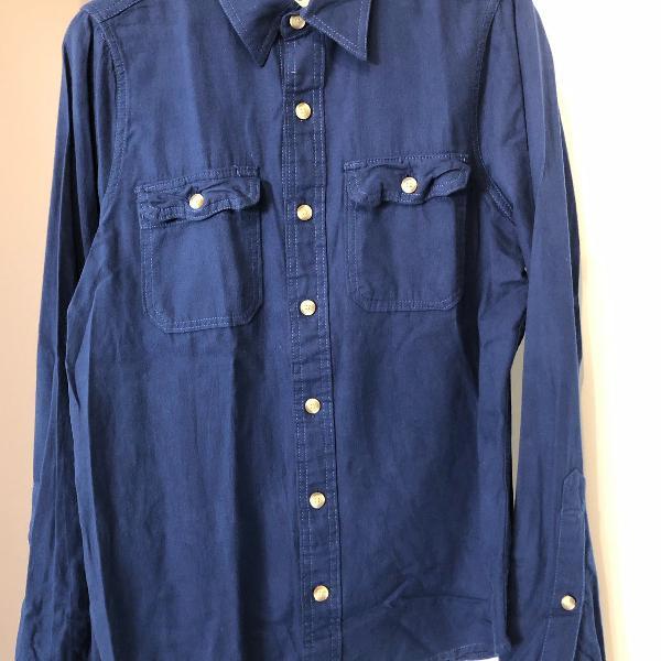 Camisa masculina azul, tamanho o, abercrombie