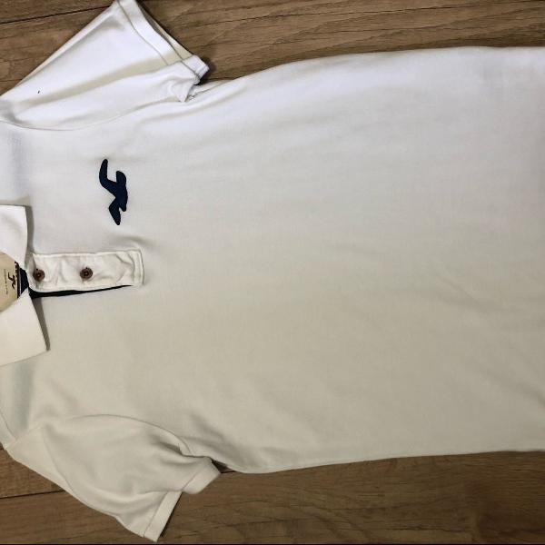 Camisa polo branca hollister