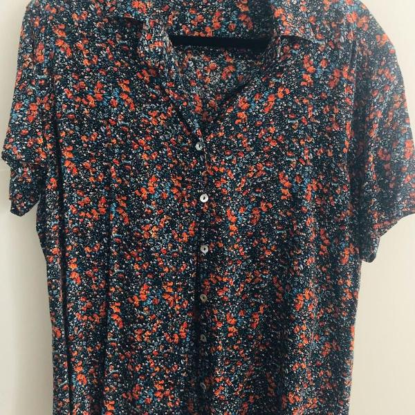 Camisa unissex floral