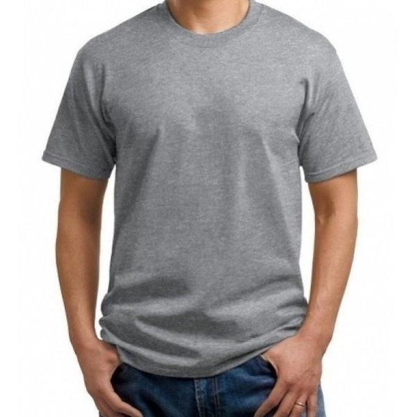 Camiseta masculina lisa, cinza mescla