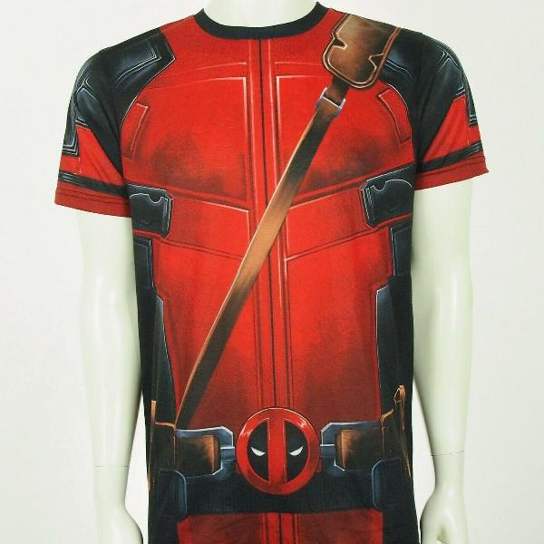 Camiseta personalizada deadpool armadura estampa total