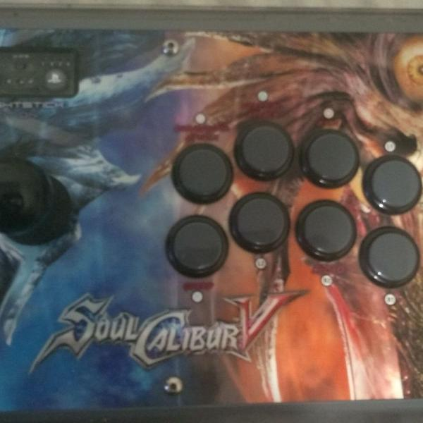 Controle arcade madcatz soul calibur edition para pc/ps3