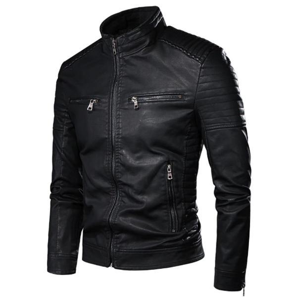 Jaqueta masculina motoqueiro de frio casaco inverno