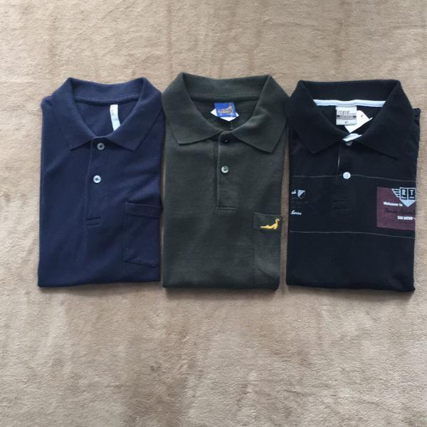 Kit 3 camisetas polo k01