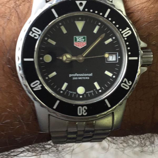 Relógio tag heuer mod: wd 1210-g-20 conservado.